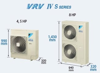Dàn Nóng Điều Hòa Trung Tâm Daikin VRV IVS