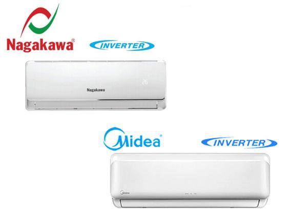 Nên mua điều hòa inverter giá rẻ của thương hiệu điều hòa Nagakawa hay Midea