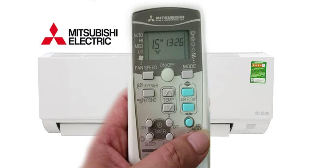 Cách dùng điều khiển điều hòa Mitsubishi Electric